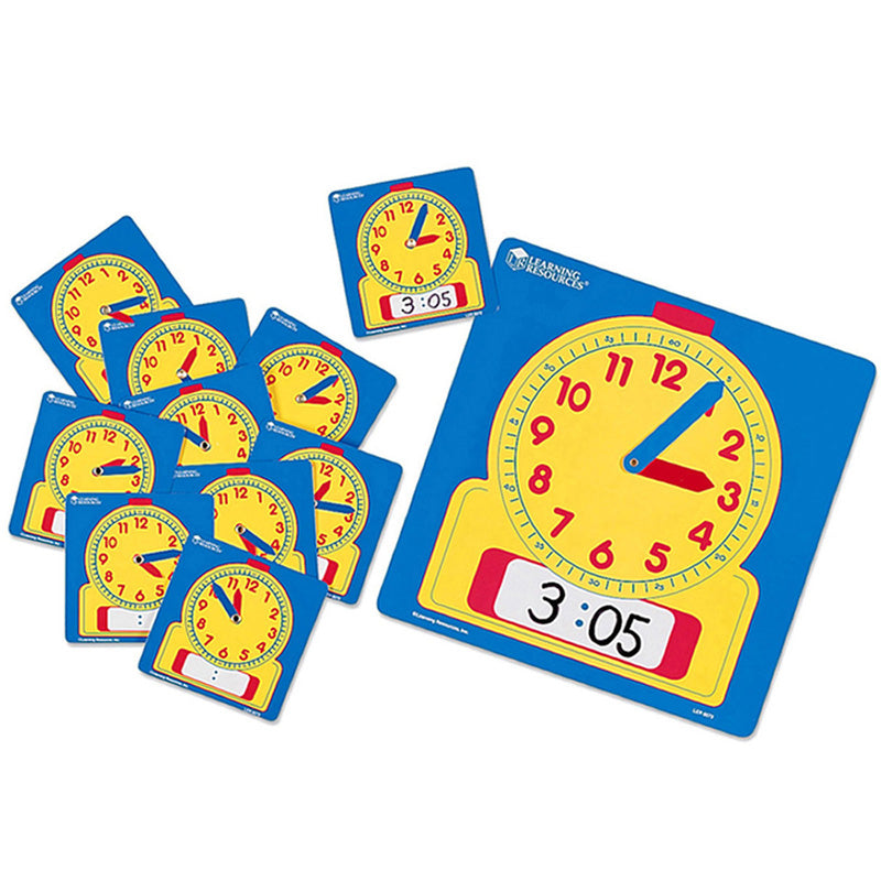 Write & Wipe Clocks Classroom Set, 1 Demonstration Clock, 24 Student Clocks - Item 4SS-LER0575