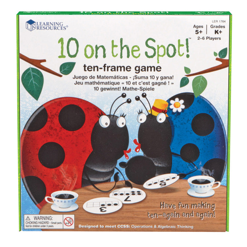 10 On The Spot! Ten Frame Game - Item 4SS-LER1764