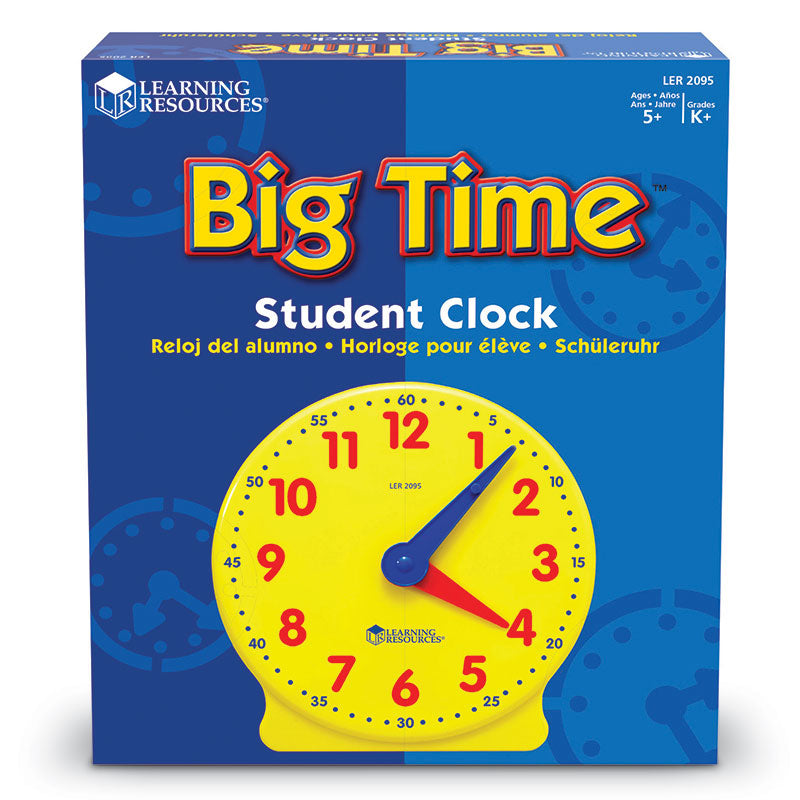 Big Time 12-Hour Student Learning Clock  - Item 4SS-LER2095