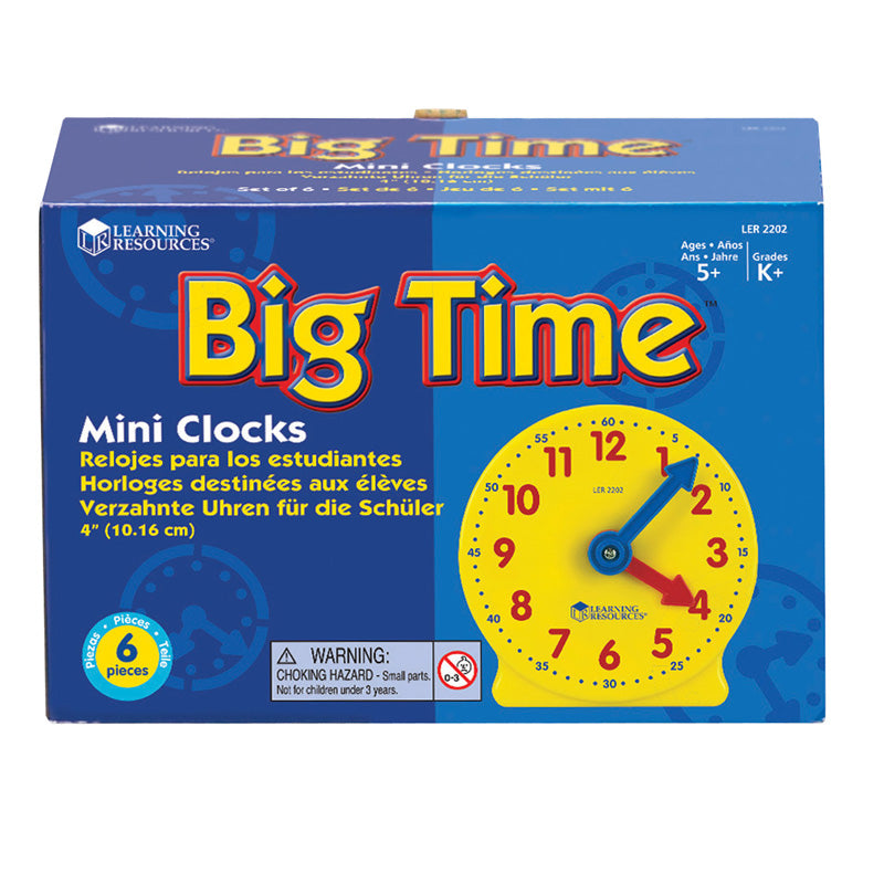 Extra 4 Geared Mini-Clocks - Item 4SS-LER2202