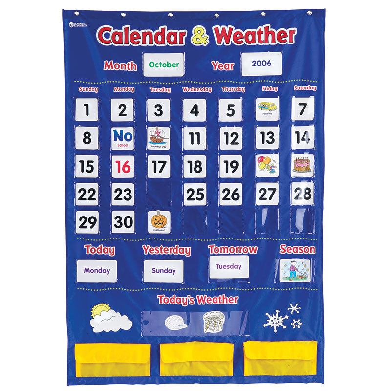 Calendar And Weather Pocket Chart - Item 4SS-LER2418