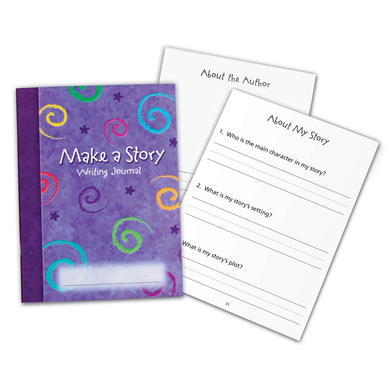 Learning Resources Ler3469 Make A Story Writing Journal, Pack Of 10 - Item 4SS-LER3469