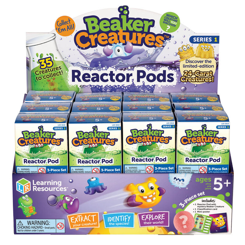 Beaker Creatures Reactor Pod, Set Of 24 - Item 4SS-LER3818