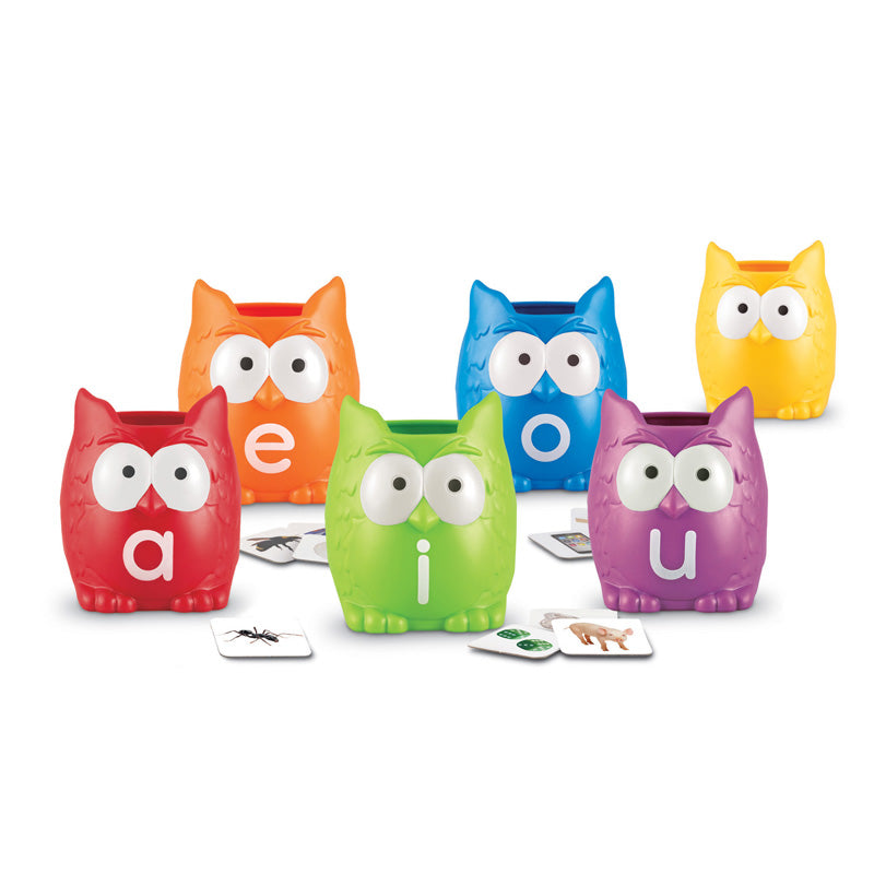 Vowel Owls Sorting Set - Item 4SS-LER5460
