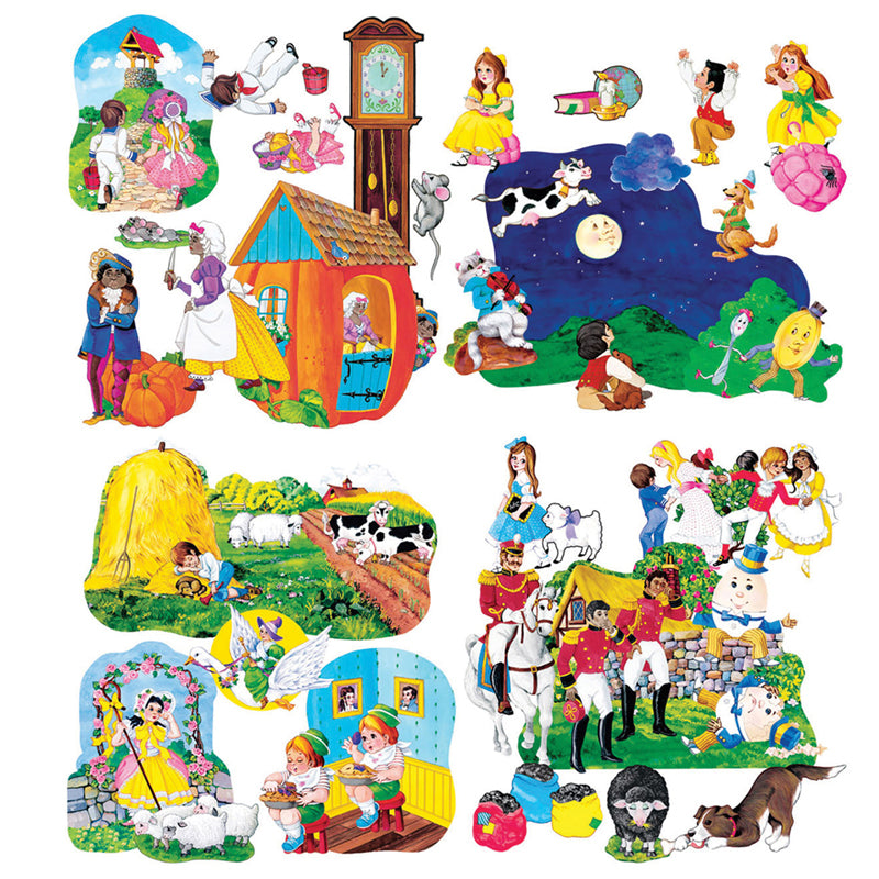 Little Folks Visuals Nursery Rhymes Pre-Cut Flannel Board Set - Item 4SS-LFV22005