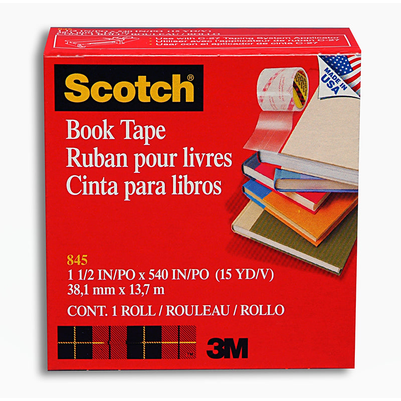 "Book Tape, 1.5"" X 15 Yd Per Roll, 3 Rolls - Item 4SS-MMM84515BN"