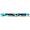 (12 Dz) Attitude Is Everything Fun Pencils 12 Per Pk - Item 4SS-MUS2281DBN