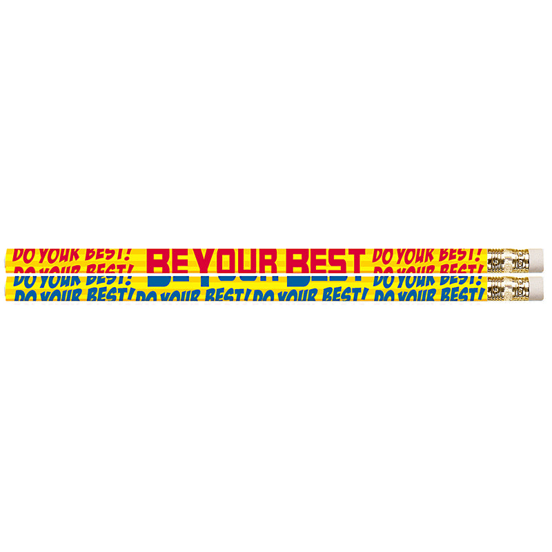 (12 Dz) Do Your Best Be Your Best Fun Pencils 12 Per Pk - Item 4SS-MUS2422DBN
