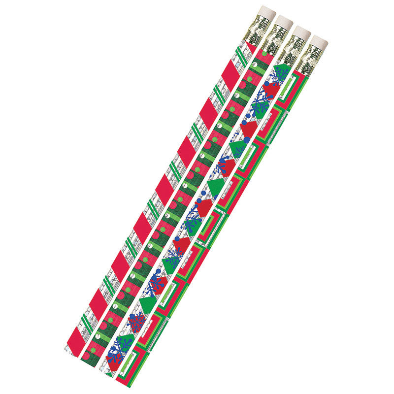 (12 Dz) Christmas Creations Pencils 12 Per Pk - Item 4SS-MUS2451DBN