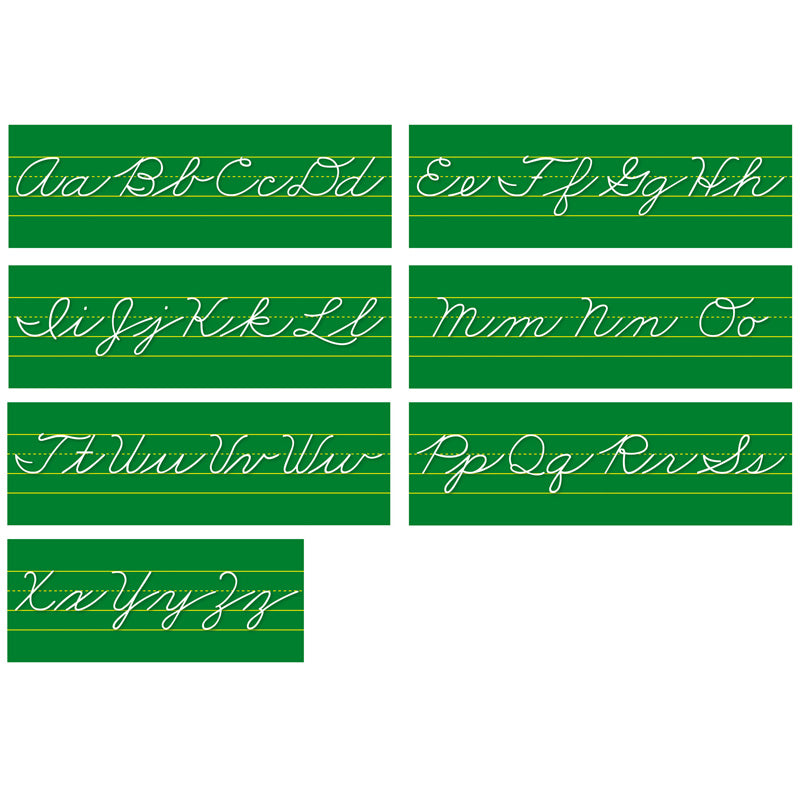 Traditional Cursive Alphabet Lines Bulletin Board Set - Item 4SS-NST9011