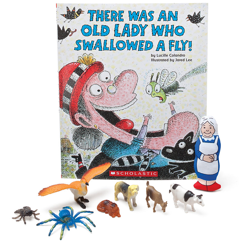 There Was An Old Lady Who Swallowed A Fly! 3-D Storybook - Item 4SS-PC-1647
