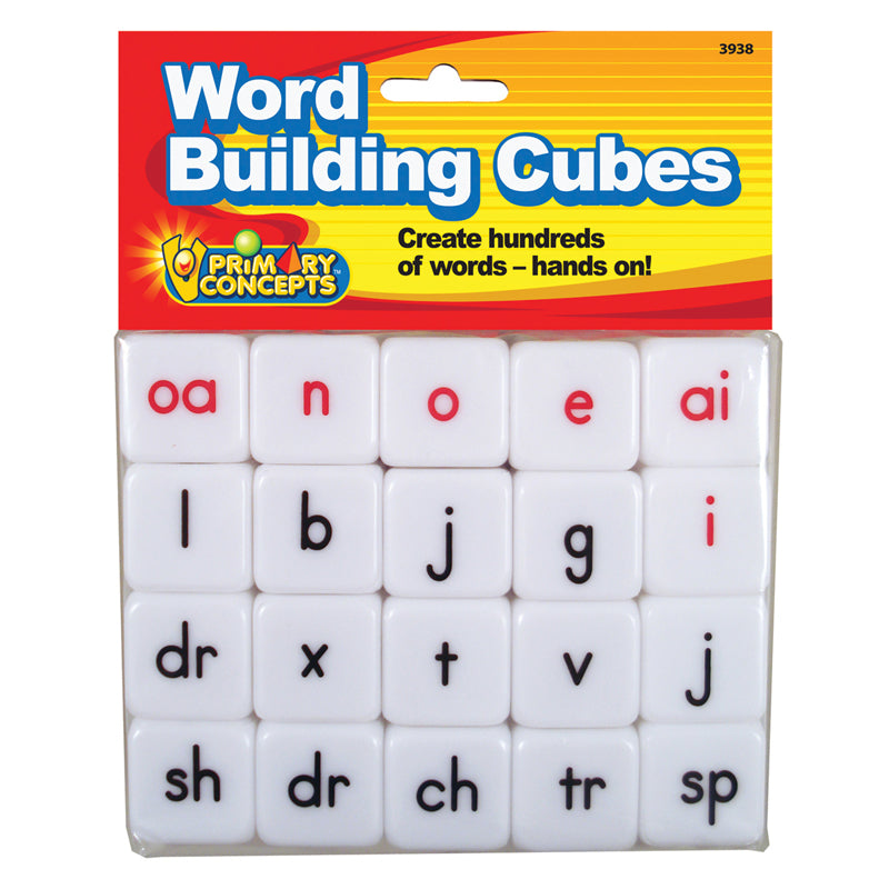 Word Building Cube, 20 Pieces - Item 4SS-PC-3938