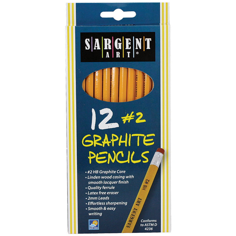 (12 Bx) Hb Graphite Pencils Unsharpened 12 Per Bx - Item 4SS-SAR227291BN