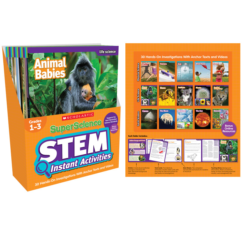Superscience Stem Instant Activities, Grades 1-3 - Item 4SS-SC-809900