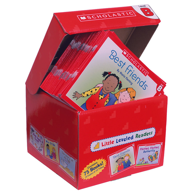 Little Leveled Readers Book: Level B Box Set, 5 Copies Of 15 Titles - Item 4SS-SC-9780545067683