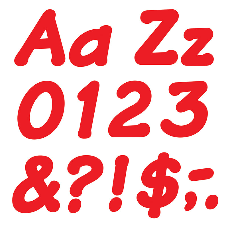 "Red 4"" Italic Combo Ready Letters  - Item 4SS-T-2700"