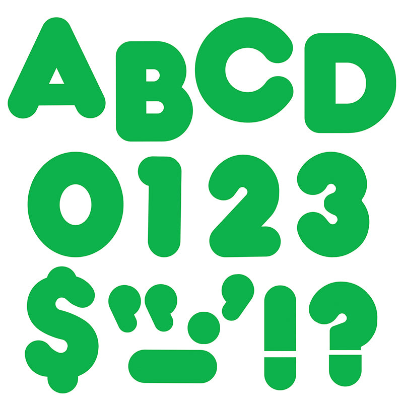"Green 4"" Casual Uppercase Ready Letters  - Item 4SS-T-458"