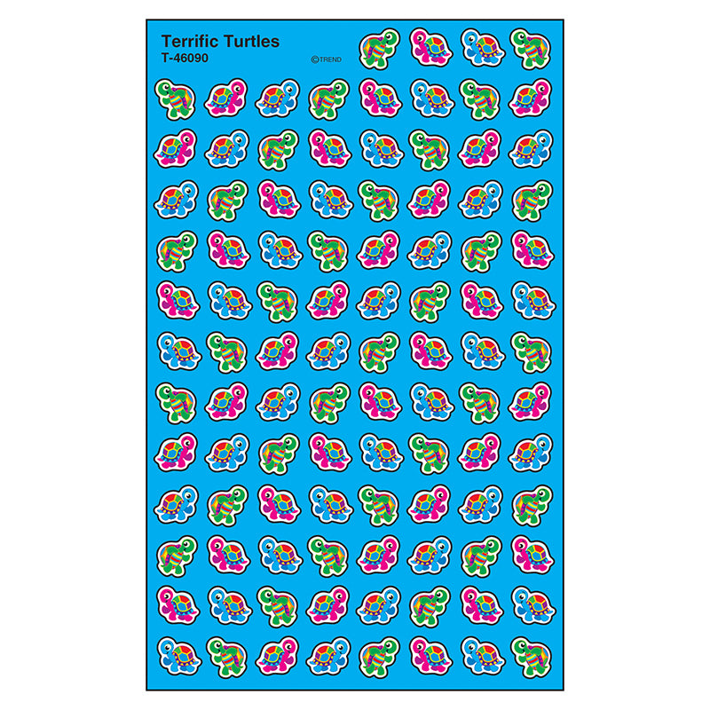 Terrific Turtles Supershapes Stickers, 800 Ct - Item 4SS-T-46090