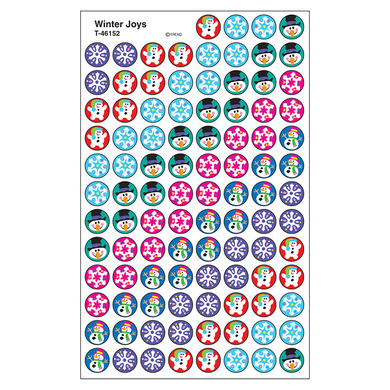 Winter Joys Superspots Stickers, 800 Ct - Item 4SS-T-46152