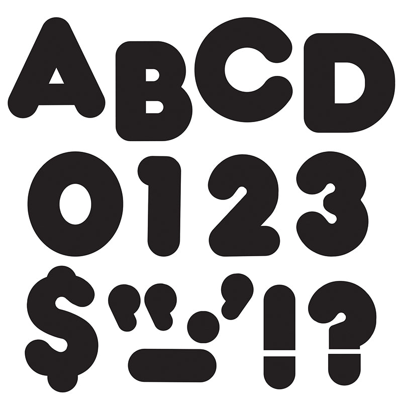 "Black 4"" Casual Uppercase Ready Letters , 6 Packs - Item 4SS-T-465BN"