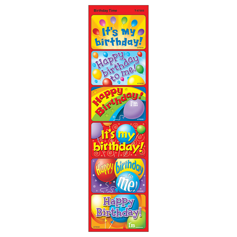 Birthday Time Large Applause Stickers , 30 Ct. - Item 4SS-T-47303