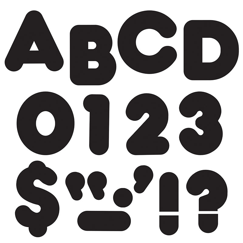 "Black 3"" Casual Uppercase Ready Letters  - Item 4SS-T-79001"