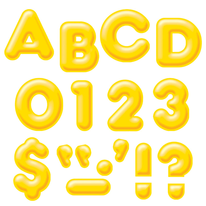 "Yellow 4"" 3-D Uppercase Ready Letters  - Item 4SS-T-79503"
