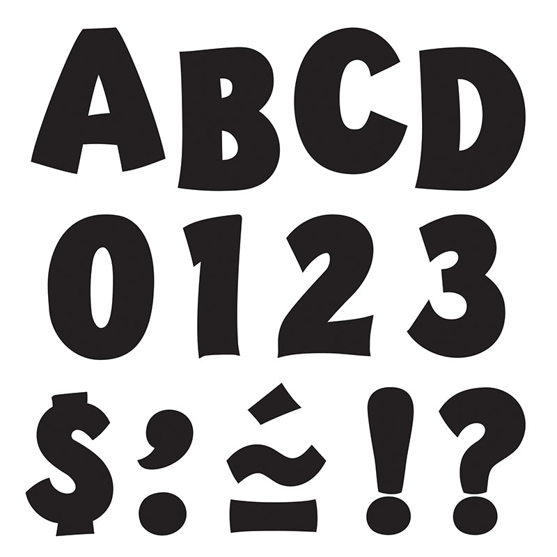 "Black 2"" Playful Uppercase Ready Letters  - Item 4SS-T-79721"