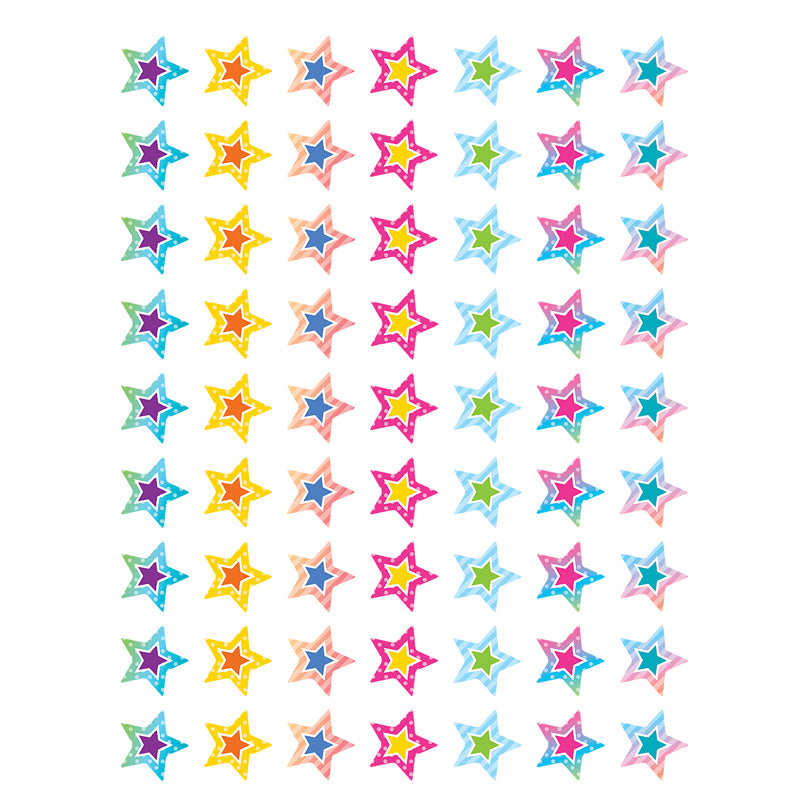 Colorful Vibes Mini Stickers, 378 Per Pack, 12 Packs - Item 4SS-TCR8786BN