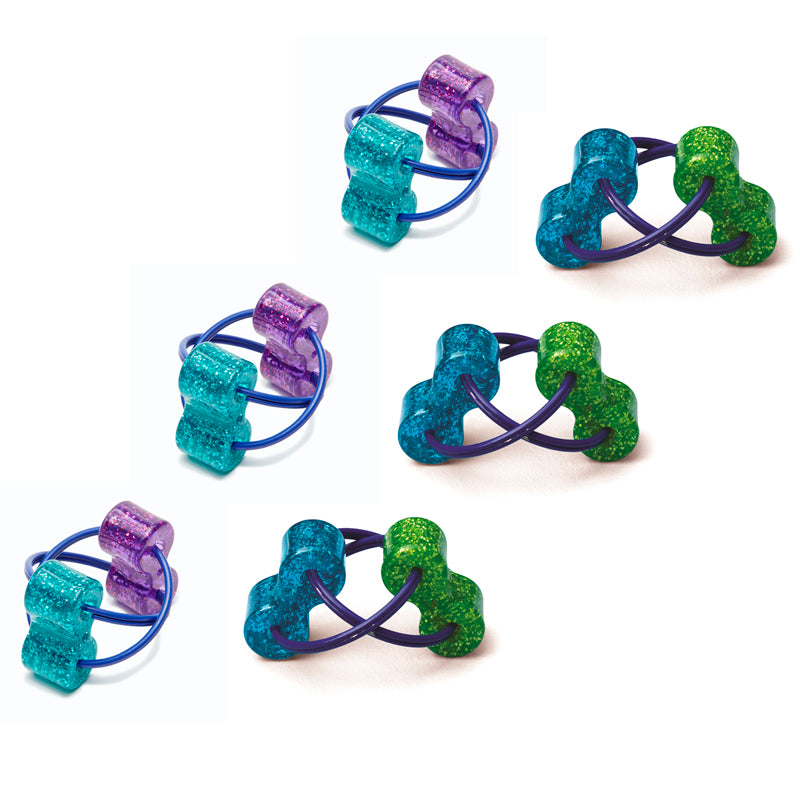 Loopeez, Sensory Ring Fidget Toy, Pack Of 6 - Item 4SS-TPG861BN