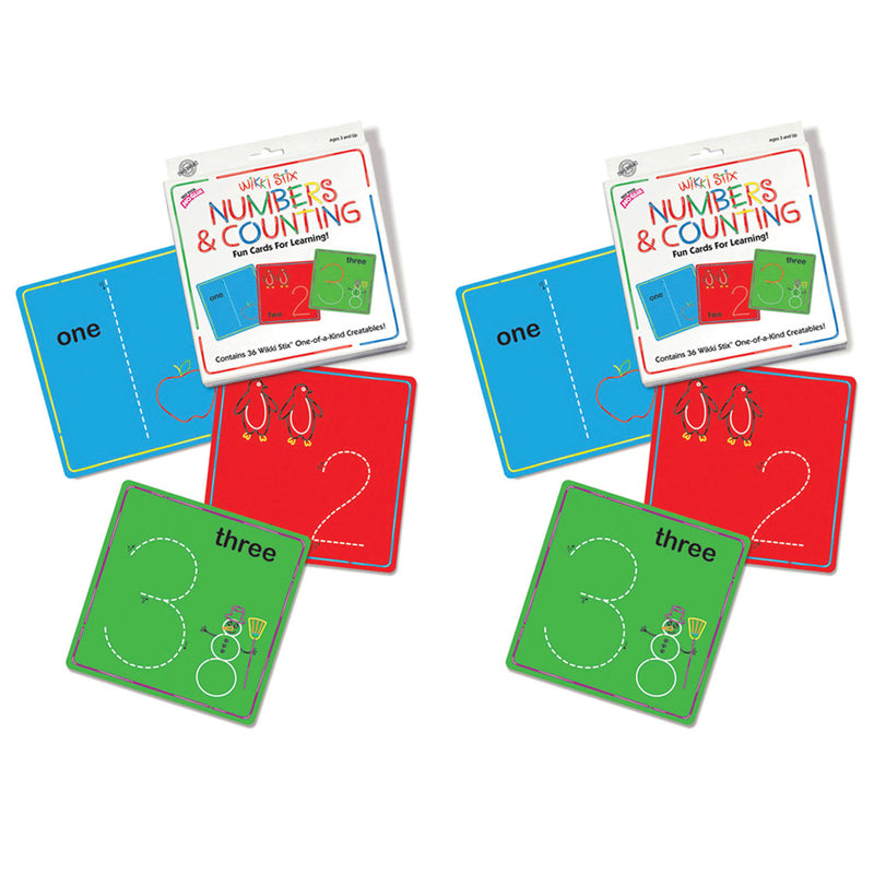Numbers & Counting Cards Set, 2 Sets - Item 4SS-WKX608BN