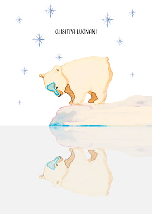 Olisitpa luonani Christmas card by Kinos Design made in Finland