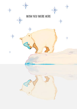 Wish you were here Christmas card by Kinos Design made in Finland