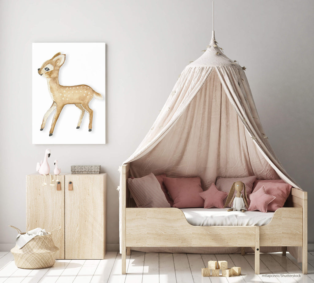 Bambi poster by Kinos Design made in Finland
