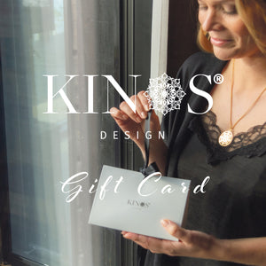 Kinos Design's Gift Cards for the special moments in your life