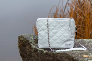 Kinos Design`s unique luxury Ounas shoulder bag is made of reindeer leather in Finland.