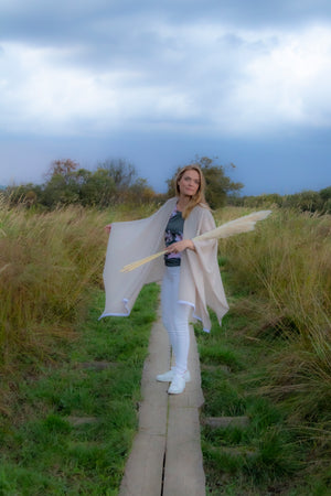 Merino Wool Halla Cape by Kinos Design made in Finland