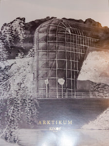 Kinos Design's Black and white Gold Edition of the Arktikum poster made in Finland