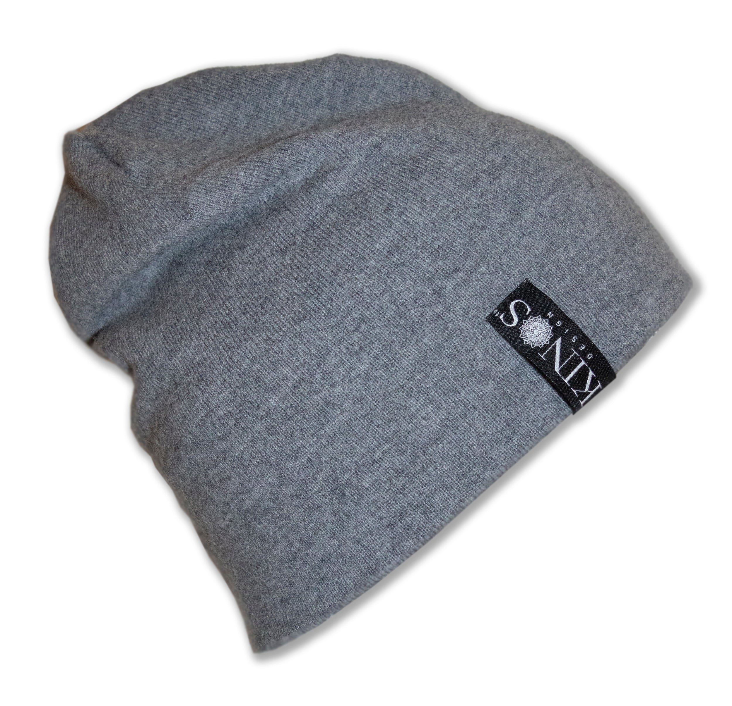 Grey Men's Merino Wool Hanki Beanie by Kinos Design made in Finland