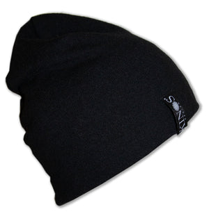 Black Men's Merino Wool Hanki Beanie by Kinos Design made in Finland