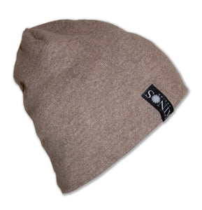 Brown Men's Merino Wool Hanki Beanie by Kinos Design made in Finland