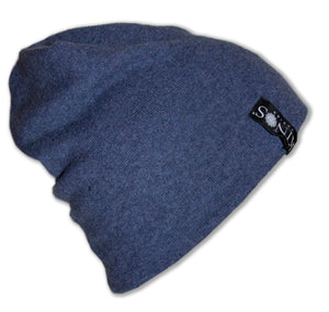 Blue Men's Merino Wool Hanki Beanie by Kinos Design made in Finland