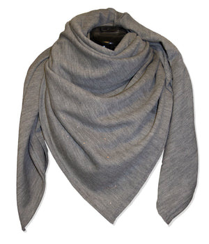 Merino wool Grey Nova Scarf by Kinos Design made in Finland