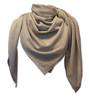 Merino wool beige Nova Scarf by Kinos Design made in Finland