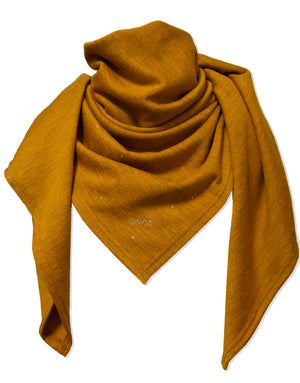 Merino wool toffee Nova Scarf by Kinos Design made in Finland
