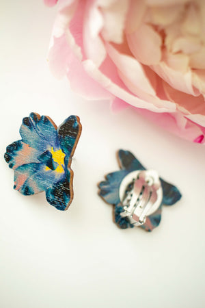 Summertime Tiny Clip Earrings by Kinos Design's Season's Gems Collection