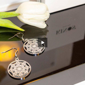 Stainless steel Mandala Sun Earrings by Kinos Design https://www.magisto.com/e/player/IlxENVAWRD49XU4BAg?1.7778