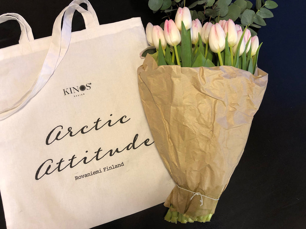 Arctic Attitude Cotton Bag by Kinos Design