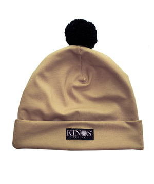 Camel Pampula Beanie by Kinos Design made in Finland
