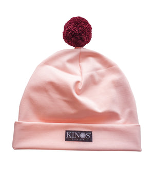 Light Pink Pampula Beanie by Kinos Design made in Finland